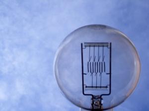 big bulb on sky